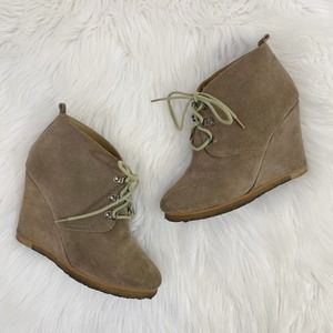 Steve Madden Tanngoo Suede Covered Wedge Booties